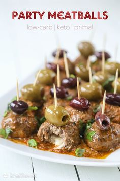 Party Meatballs (low-carb, keto, primal)