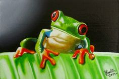 Tree frog, painting by artist JP Walter