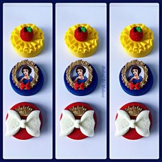 Snow White themed party. Chocolate covered Oreos. Edible images. Fondant. Disney's Snow White party treats