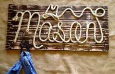 5 letter western wood rope name sign baby country by memorys Vintage Nursery Boy, Rustic Nursery, Baby Names Flowers, Baby Girl Names Spanish, Western Signs, Baby Name Generator, French Kids, Girl Cribs, Name Signs