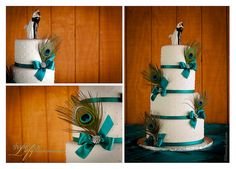 Peacock Wedding Cake by Shauna Lofy Design  Photography www.ShaunaLofy.com Cake creation by http://www.anamiessweets.com/