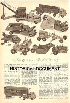 Image result for 1953 tonka cement mixer truck ads