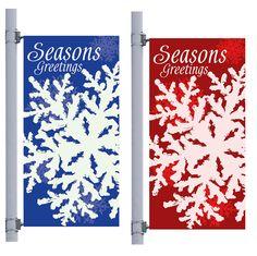 Blue Icy Winter Street Pole Banner, FBPP0000009745