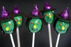 Cake pops de brujas / Witch Cake Pops by Bakerella