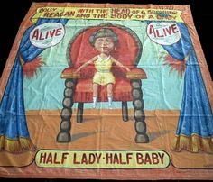Fred G. Johnson Side Show Banner