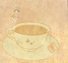 i could swim in the sea of this tea...