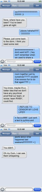 renora texting -- \
