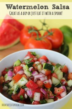 Try this easy watermelon salsa recipe and you will be hooked. It's great served with pita chips or you can just grab a fork and dig in!