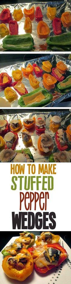 A Fine Feed: How to make stuffed pepper wedges
