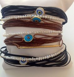 Hand made bracelets! Captain Hat, Eye, Hats, Bracelets, Handmade, Jewelry, Fashion, Nymphs, Moda