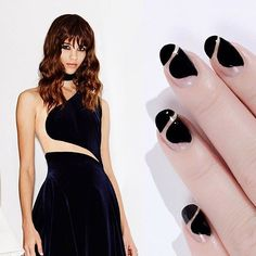 Negative space manicure inspired by #ZuhairMurad, by @palemoonseattle || #NAFW2016 Day 2