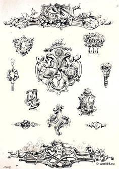 rokoko barock ornamente printables stencils und layouts pinterest search. Black Bedroom Furniture Sets. Home Design Ideas
