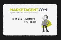 MarketAgent. Registro y opiniones sobre este panel de encuestas remuneradas que admite a usuarios de todos los países del mundo. Regala 1,50€ al registrarnos y paga a partir de tan solo 2€ a través de Paypal, Skrill o cuenta bancaria. Tutorial en español y características principales de MarketAgent.