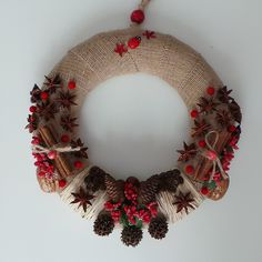 Kahve Rüyası, door wreath, wreath, diy, handmade, doityourself, gift, giftideas