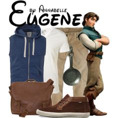 Eugene / Flynn Rider by annabelle-95 on Polyvore featuring polyvore fashion style Emili Hollister Co. Vans