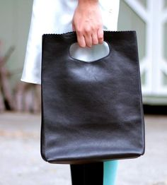 sewing inspiration-Leather Handbag