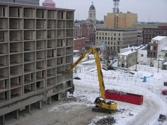 executive inn evansville | High Reach Demolition Excavator