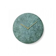 The Marble Wall Clock is presented in three options of the finest marble: Green (Verde Guatemala), and Matte White and Black. Cut into a simple round shape, the use of high-quality marble shows off the materials complex mosaic pattern with each featur Green Wall Clocks, Clock Wall, Clock Decor, Wall Art, Traditional Clocks, Green Home Decor, Marble Wall, Green Marble, Mosaic Patterns