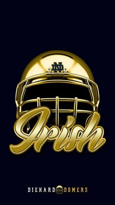 Notre Dame wallpaper for your Android/iPhone. Notre Dame Football, Nd Football, Oklahoma Sooners Football, College Football Helmets, Football Recruiting, Football Quotes, Collage Football, Notre Dame Logo, Notre Dame Irish