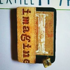"""Handcrafted Rustic + Farmhouse LETTER MAGNET --- Personalized, Unique & Special Gift for Family and Friends --- Letter """"I"""" is for Imagine by TextileandType on Etsy @ http://textileandtype.com"""