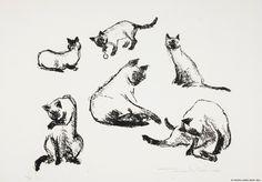 Pietilä, Tuulikki Siamilaisia kissoja 1955