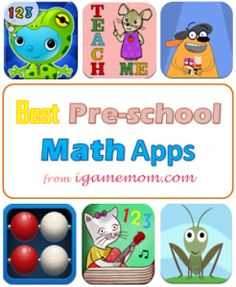 Best math apps for preschool kids : numbers, counting, simple math operations, all via fun interactive game play. Best Math Apps, Educational Apps For Kids, Learning Apps, Preschool Learning, Preschool Activities, Fun Apps, Learning Time, Teaching, Homeschool Math