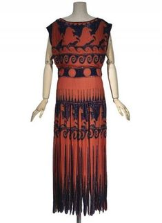 Madeleine Vionnet, Evening dress, winter 1921, collection Les Arts Décoratifs, U.F.A.C