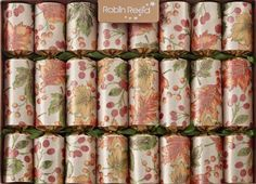 8 X English Christmas Crackers By… English Christmas Crackers, Sheer Fabrics, Tree Toppers, Christmas Traditions, Autumn Leaves, Berries, Traditional, Holiday Decor, Satin Ribbons