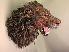 Upholstered Lion by Kelly Jelinek of Little Stag Studio