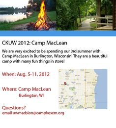 This is our campsite for summer 2012. Camp MacLean in Burlington, WI!