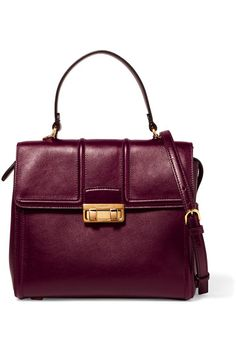 07ef030d8d Lanvin  Hihi Burgundy leather (Calf) Flip lock-fastening front flap Comes  with dust bag Weighs approximately Made in Italy