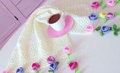 Towel Edge And Cheesecloth Needlework Patterns Photo Gallery - Hobby Sisters Knit Or Crochet, Crochet Scarves, Crochet Shawl, Crochet Baby, Free Crochet, Crochet Edging Patterns, Crochet Borders, Crochet Prayer Shawls, Cheese Cloth