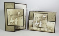 Emboss Resist Christmas card video - Dawn's Stamping Thoughts