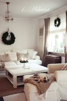 Use only wreaths to decorate your home.