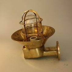 Nautical Passageway light - brass shadeNautical Passageway light - brass shade