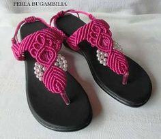 sandalias tejidas macrame
