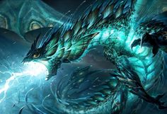 Aquatic dragon. Swanland.