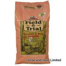 Skinners Field Trial Salmon Rice 2 5kg Some working dogs can benefit from a fish-based diet particularly those with sensitivities to meat such as chicken, beef or lamb.