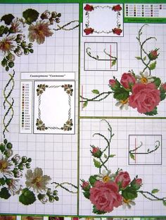 Cross Stitch ucraniano Bordado patrones de flor para Mantel Almohada Servilleta 7