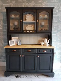 NOW SOLD. Refurbished Furniture, Upcycled Furniture, Furniture Makeover, Painted Furniture, Diy Furniture, Sideboard Furniture, Kitchen Display Cabinet, Kitchen Sideboard, Kitchen Storage