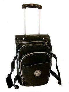 KIPLING Black Travel Luggage Rolling Trolley Cabin Suitcase Bag 55 x 34cm in Home, Furniture & DIY, Luggage & Travel Accessories, Luggage   eBay