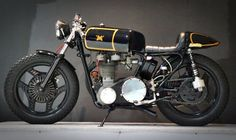 Matchless 500cc Single Cafe Racer - classic British Made Motorbike updated and custom built motorcycle