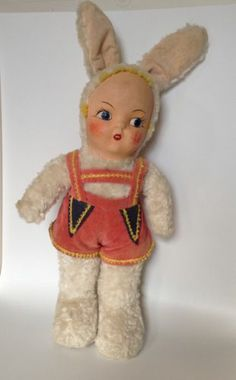 Vintage Easter Doll Bunny