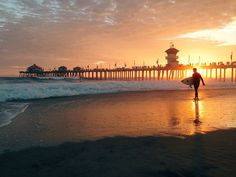 Surfer at Huntington Beach Pier - Pier - Wikipedia, the free encyclopedia