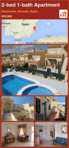 1 Bed 1 Bath Apartment In Mirador Del Mediterraneo, Villamartin, Alicante,  Spain ▻u20ac44,995 #PropertyForSaleInSpain | 1 Bed 1 Bath Apartment | Pinterest  ...