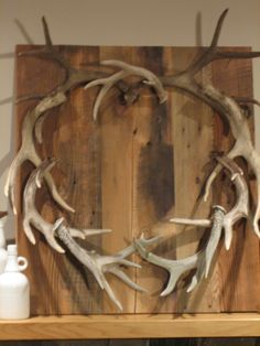 Antlers.  Also seen this done in the shape of a heart.  Love <3