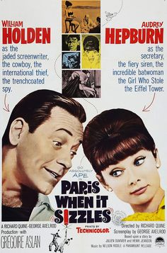 Paris When It Sizzles / Audrey Hepburn / William Holden One of my favourites !!
