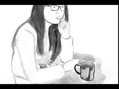 Watercolour Coffee and Chat with Sound - YouTube