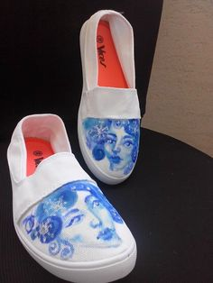 Hand Painted canvas shoes DIY