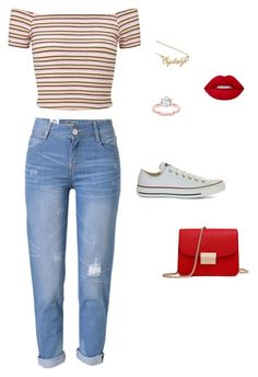 """Untitled #42"" by missingyoucth ❤ liked on Polyvore featuring Miss Selfridge, WithChic and Converse"